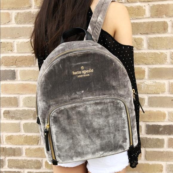 1ed8d9a46926 Kate spade Watson Lane Hartley Velvet Backpack